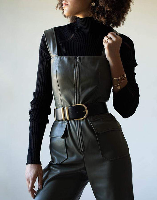 KHAITE ACCESSORIEBELTS BLACK / O/S Smooth Calf Bella Belt