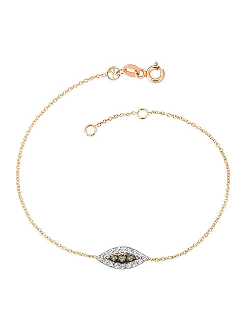 KISMET BY MILKA JEWELRYFINE JEWELBRACELET O ROSEGOLD 10th Eye Haven Full Diamond Bracelet