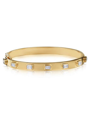 KWIAT JEWELRYFINE JEWELBRACELET O YLWGOLD Ashoka Diamond Stack Bangle