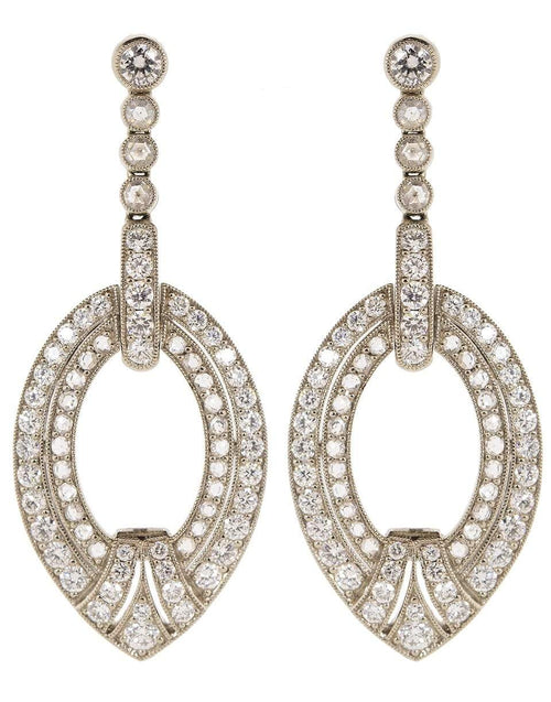 KWIAT JEWELRYFINE JEWELEARRING WHTGOLD Diamond Drop Earrings
