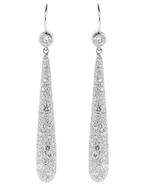 KWIAT JEWELRYFINE JEWELEARRING WHTGOLD Pave Diamond Drop Earrings