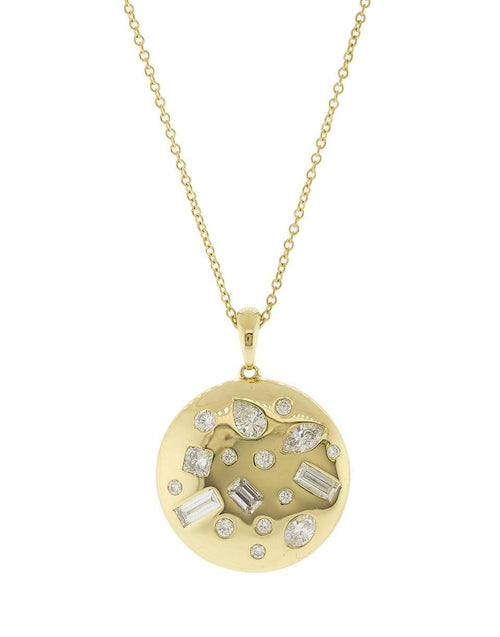 KWIAT JEWELRYFINE JEWELNECKLACE O YLWGOLD Diamond Cobblestone Pendant Necklace
