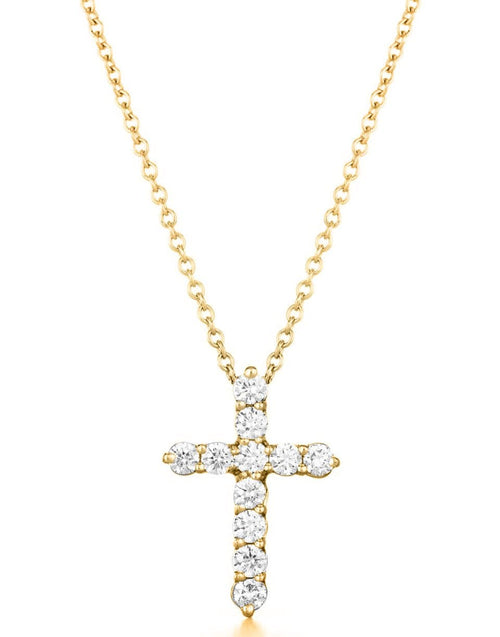 KWIAT JEWELRYFINE JEWELNECKLACE O YLWGOLD Yellow Gold Diamond Cross Necklace