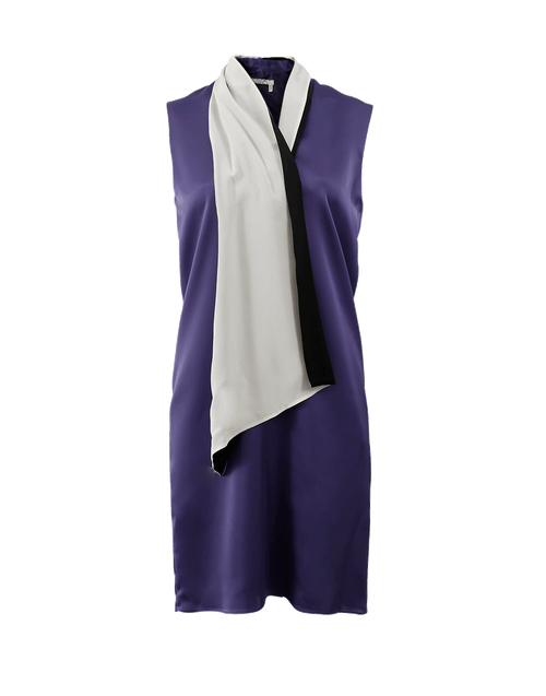 LANVIN CLOTHINGDRESSCASUAL Bi-Color Drape Neck Dress