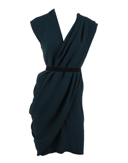 LANVIN CLOTHINGDRESSCASUAL Draped Belted Dress