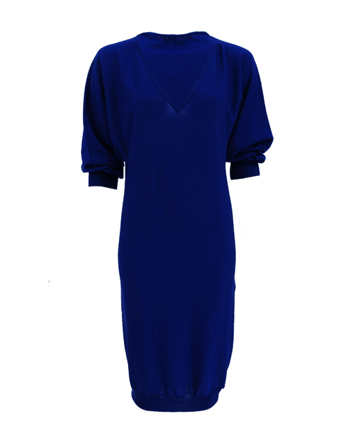 LANVIN CLOTHINGDRESSCASUAL Long Sleeve V-Neck Knit Dress