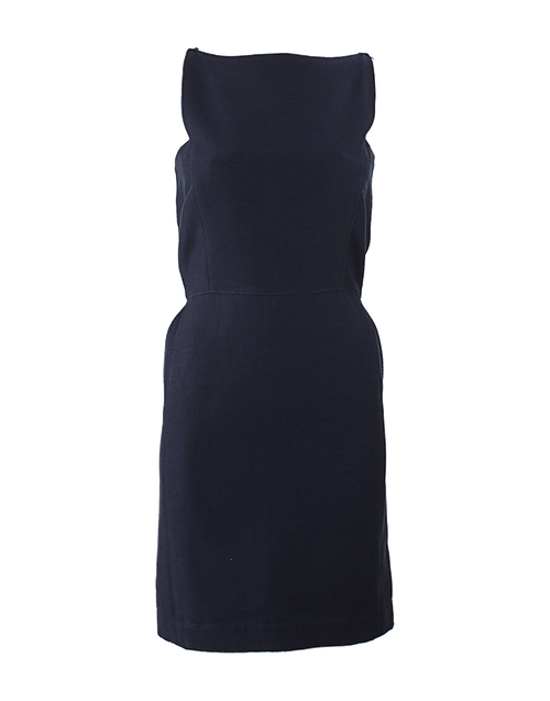 LANVIN CLOTHINGDRESSCASUAL Sleeveless Exposed Back Zip Dress
