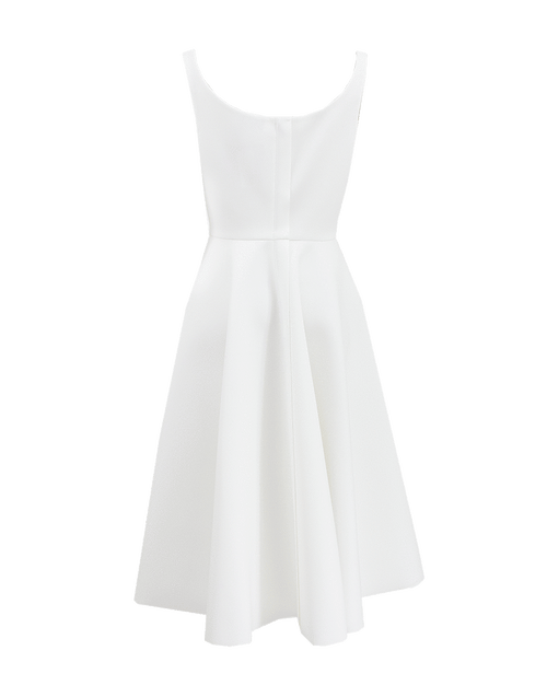 LANVIN CLOTHINGDRESSCOCKTAIL WHITE / 42 Sleeveless Scoop Neck White Dress