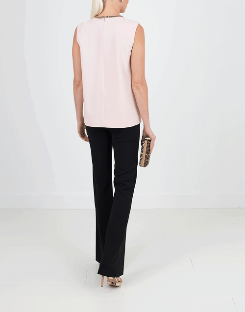 LANVIN CLOTHINGTOPMISC Embellished Neckline Top