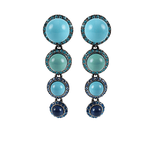 LANVIN JEWELRYBOUTIQUEEARRING BLUE Three Pearl Drop Earrings