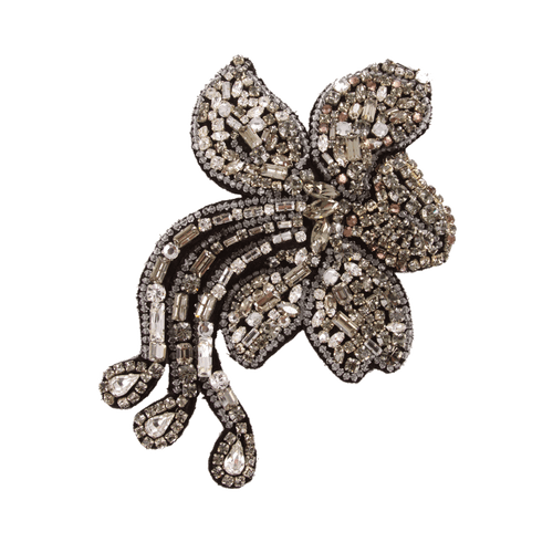 LANVIN JEWELRYBOUTIQUEPIN CRYSTAL Felt Broderies Brooch
