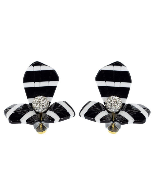 LELE SADOUGHI DESIGNS JEWELRYBOUTIQUEEARRING BLK/WHT Black and White Trillium Stud Earrings