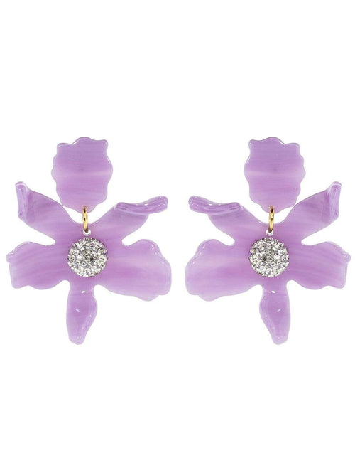 LELE SADOUGHI DESIGNS JEWELRYBOUTIQUEEARRING LILAC Small Lilac Crystal Lily Earrings
