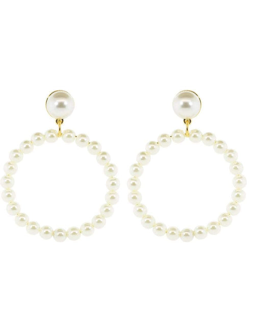 LELE SADOUGHI DESIGNS JEWELRYBOUTIQUEEARRING PEARL Frontal Pear Hoop Earrings