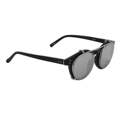 LINDA FARROW ACCESSORIESUNGLASSES BLACK Brow Bar Rounded Sunglasses