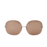LINDA FARROW ACCESSORIESUNGLASSES ROSE GLD Oversized Rounded Sunglasses