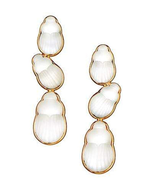 LITO JEWELRYFINE JEWELEARRING YLWGOLD Bianca Mother of Pearl Scarab Drop Earrings