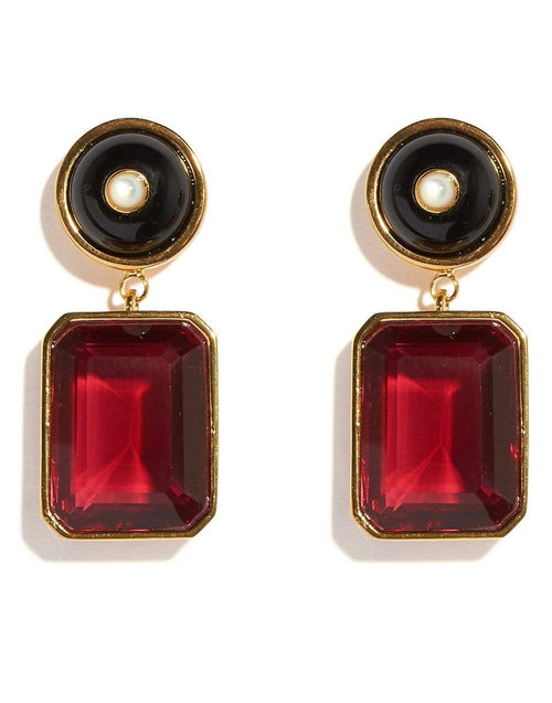 LIZZIE FORTUNATO JEWELRYBOUTIQUEEARRING RUBY Tile Earrings