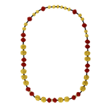 LOTUS ARTS de VIVRE JEWELRYFINE JEWELNECKLACE O YLWGOLD Red Lacquer Prayer Bead Necklace