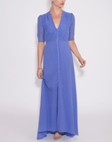 LUISA BECCARIA CLOTHINGDRESSCASUAL Double Lined Slit Maxi Dress