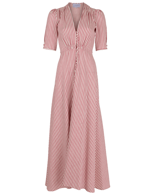 LUISA BECCARIA CLOTHINGDRESSCASUAL Front Slit Maxi Dress