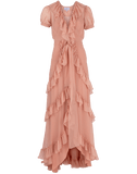 LUISA BECCARIA CLOTHINGDRESSCASUAL Ruffle Tiered Long Dress