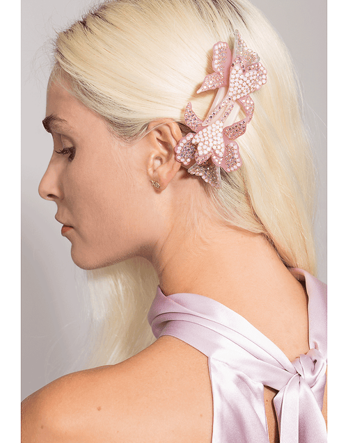 M. C. DAVIDIAN ACCESSORIEMISC PINK Double Orchid Hairclip