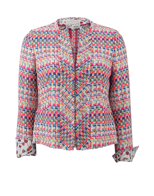 MAISON COMMON CLOTHINGJACKETMISC WHT/MLTI / 38 Ribbon Tweed Jacket