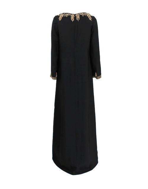 MARCHESA CLOTHINGDRESSGOWN BLACK / 12 Embroidered Caftan