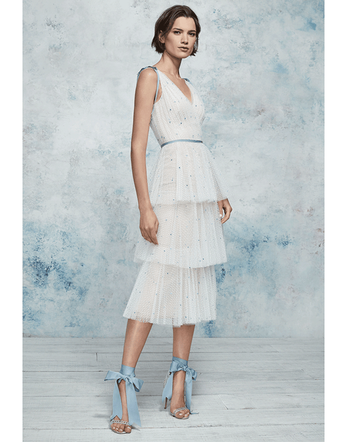 MARCHESA NOTTE CLOTHINGDRESSCOCKTAIL Tiered Cocktail Dress