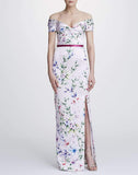 MARCHESA NOTTE CLOTHINGDRESSGOWN Off Shoulder Mikado Pique Gown