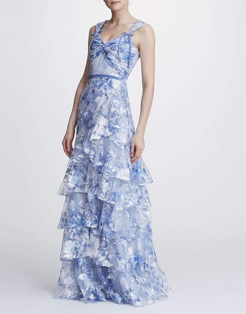MARCHESA NOTTE CLOTHINGDRESSGOWN Print Tier Tulle Gown
