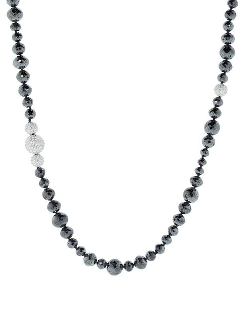 MARIANI JEWELRYFINE JEWELNECKLACE O WHTGLD Wrap Black Diamond Necklace