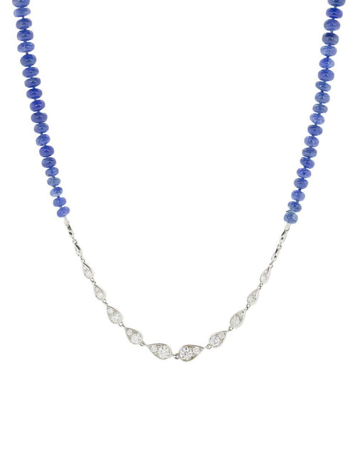 MARIANI JEWELRYFINE JEWELNECKLACE O WHTGOLD Diamond and Sapphire Wrap Necklace