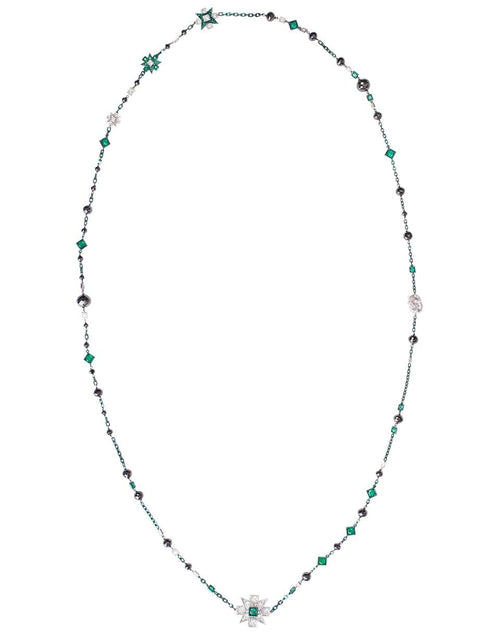 MARIANI JEWELRYFINE JEWELNECKLACE O WHTGOLD Emerald and Diamond Wrap Necklace
