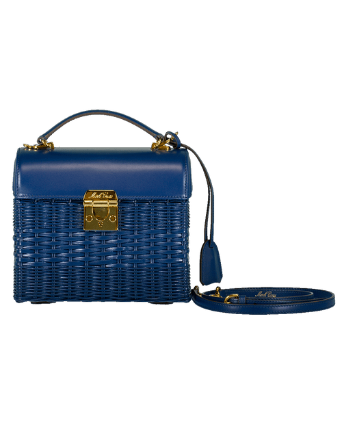 MARK CROSS HANDBAGTOP HANDLE NAVY Sara Rattan Lunch Box