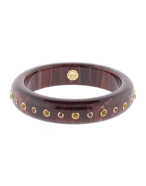 MARK DAVIS JEWELRYFINE JEWELBRACELET O YLWGOLD Burgundy Bakelite Bangle