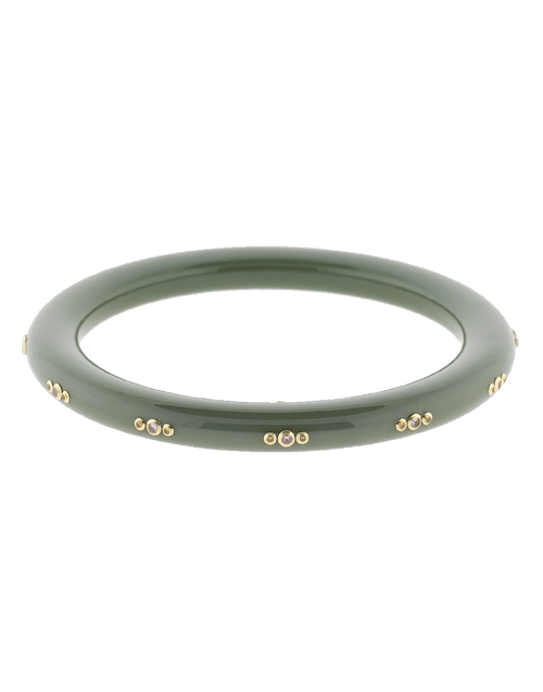 MARK DAVIS JEWELRYFINE JEWELBRACELET O YLWGOLD Green Bakelite Bangle