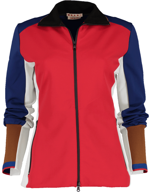 MARNI CLOTHINGJACKETMISC Color Block Double Zip Scuba Jacket