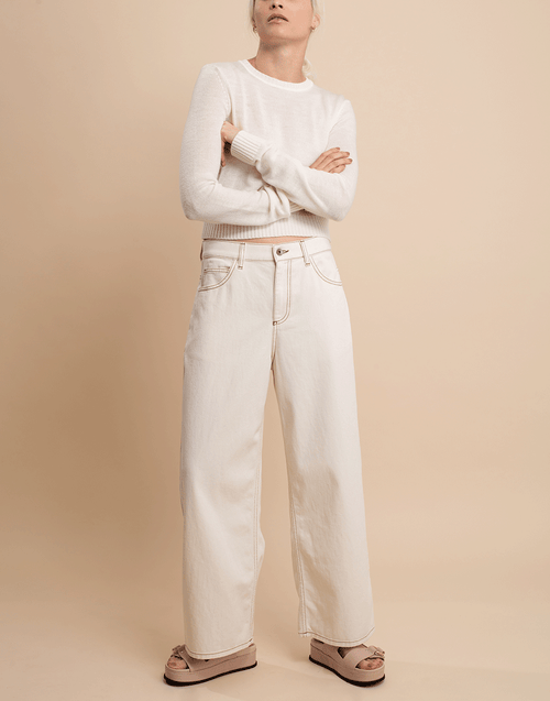 MARNI CLOTHINGPANTDENIM Wide Leg Denim Pant