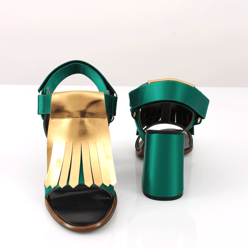 MARNI SHOESANDAL Bi-Color Fringe Sandal