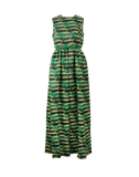 MARY KATRANTZOU CLOTHINGDRESSMISC GREEN / 8 Shaw Cheetah Print Dress