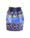 MARY KATRANTZOU CLOTHINGSKIRTMINI BLUE/MIX / 6 Check-Foam Silk Tulip Skirt