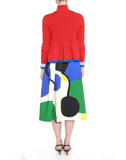 MARY KATRANTZOU CLOTHINGSKIRTMISC ART / 6 Print Bowels Skirt