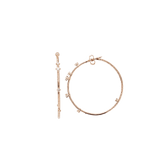 MATTIA CIELO JEWELRYFINE JEWELEARRING ROSEGOLD Rugiada Diamond Hoop Earrings