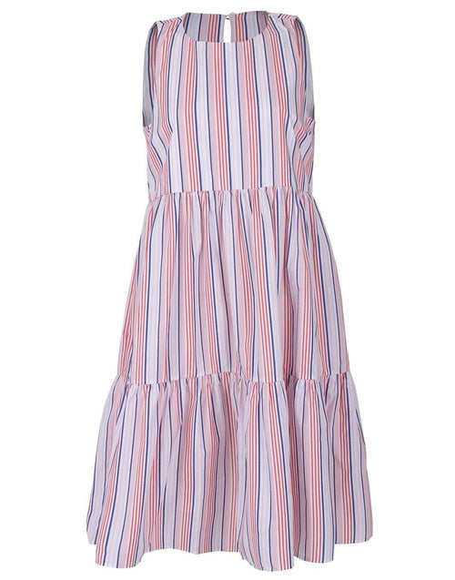 MDS STRIPES CLOTHINGDRESSCASUAL Strapless Striped Dress