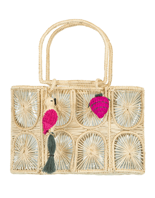 MERCEDES SALAZAR HANDBAGTOP HANDLE NATURAL Comiendo Fresas Bag