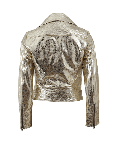 METEO BY YVES SALOMON CLOTHINGJACKETMISC Perfecto Gold Jacket