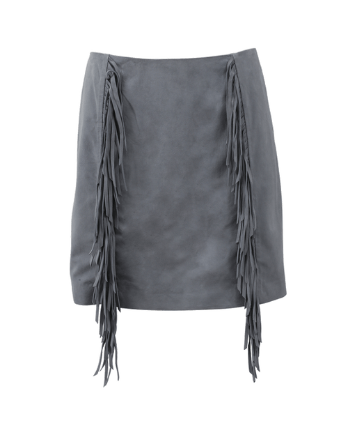 METEO BY YVES SALOMON CLOTHINGSKIRTMISC Suede Fringe Skirt