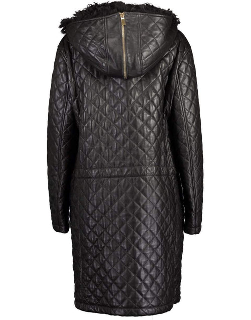 MICHAEL KORS COLLECTION CLOTHINGCOATMISC CHOCOLAT / L Chocolate Quilted Shearling Hood Parka